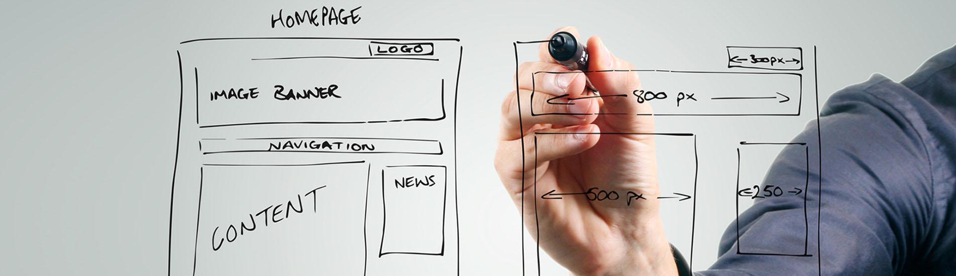 sujetbild websites Layout entwerfen