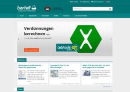 Bartelt GmbH Website und Onlineshop Übersicht