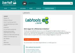 Bartelt GmbH Website und Onlineshop Startseite Labtools