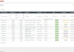 Online Buchungssystem Buchungsliste