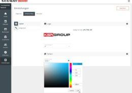 segway buchungsportal_farbeinstellungen