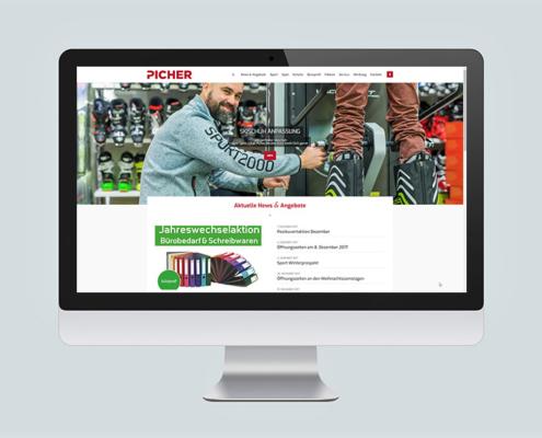 Picher GmbH - Website Relaunch_Startseite